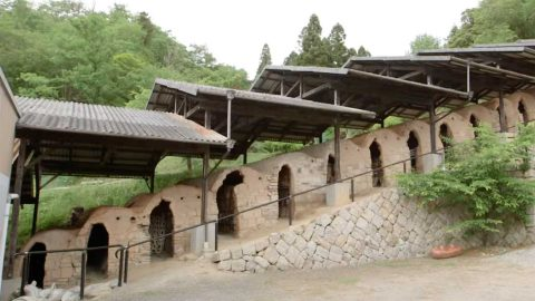 長谷園の特徴的な「登り窯」